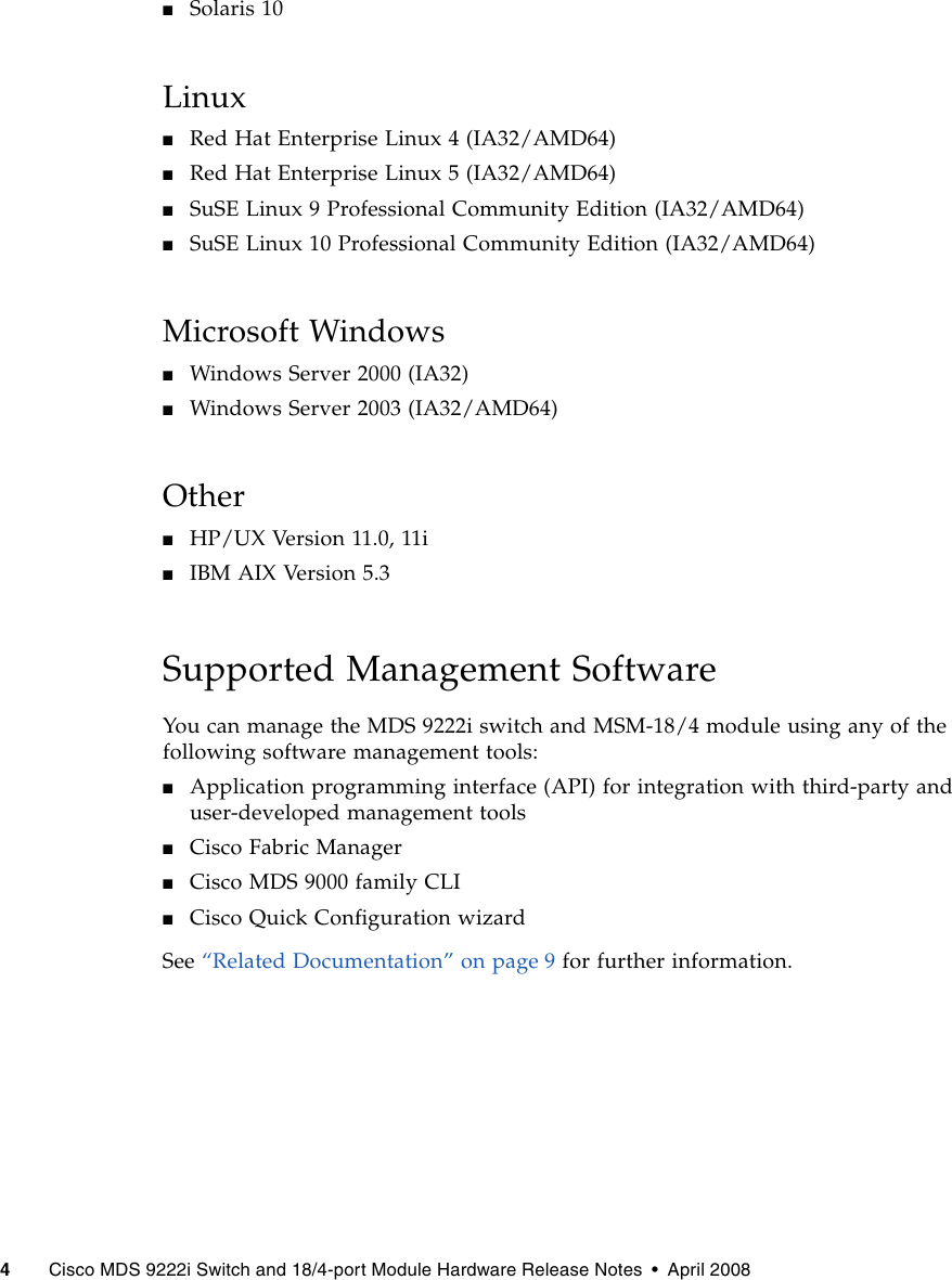 Sun Microsystems Cisco Mds 9222I Users Manual Switch And 18/4 Port ...