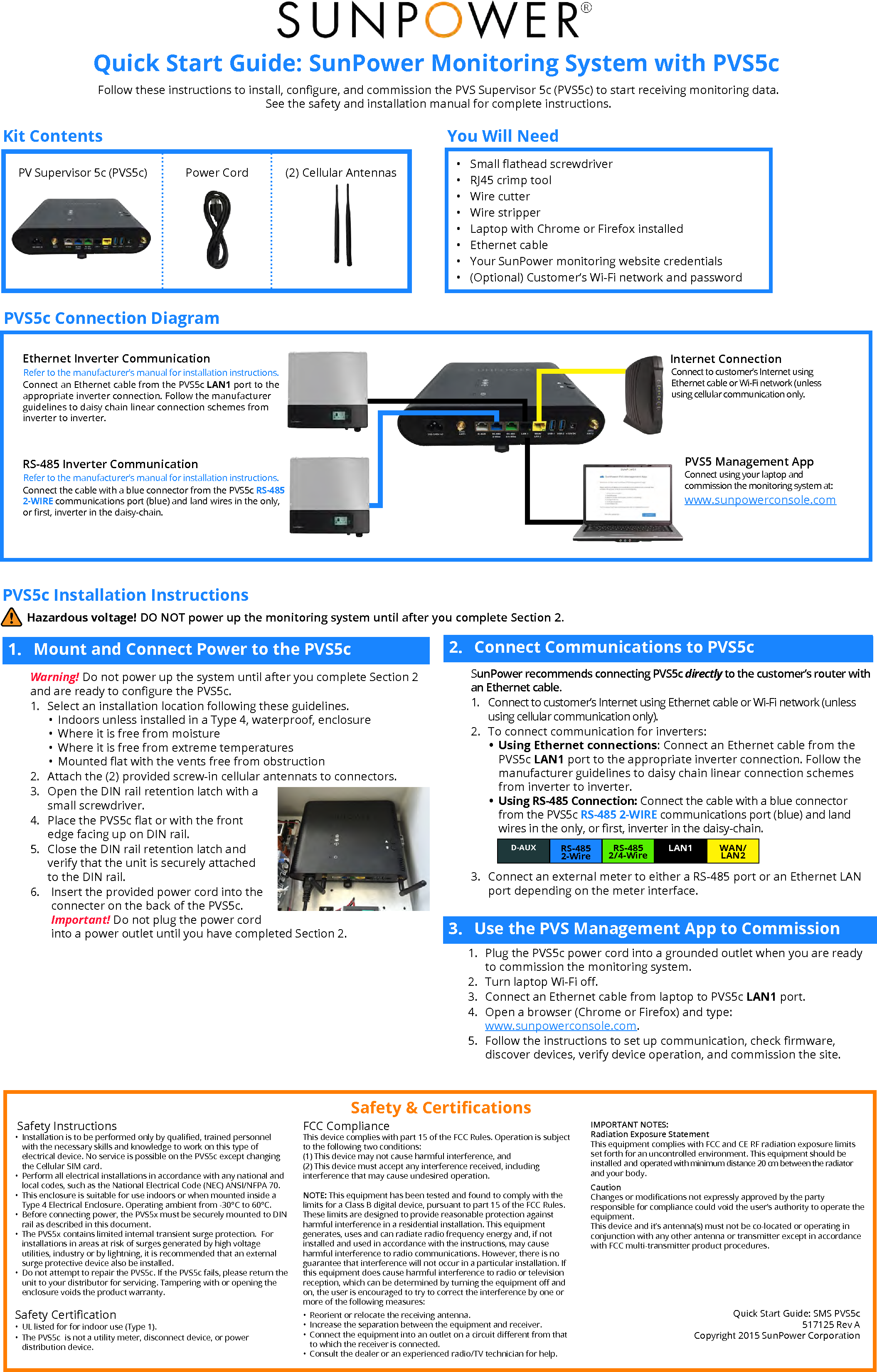 Sunpower monitoring manual