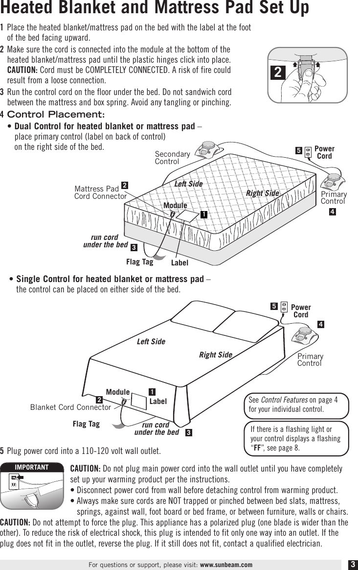 Sunbeam Electric Blanket Instruction Manual  U2013 2019 Inspirational Throw Blankets