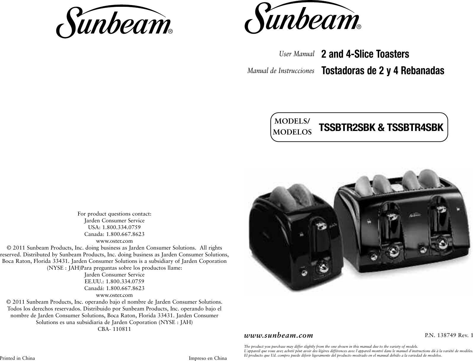 sunbeam tssbtr2sbk 2 slice and 4 extra wide slot toaster instruction rh usermanual wiki sunbeam user manual with recipes breadmaker 5891 sunbeam nutrioven instruction manual