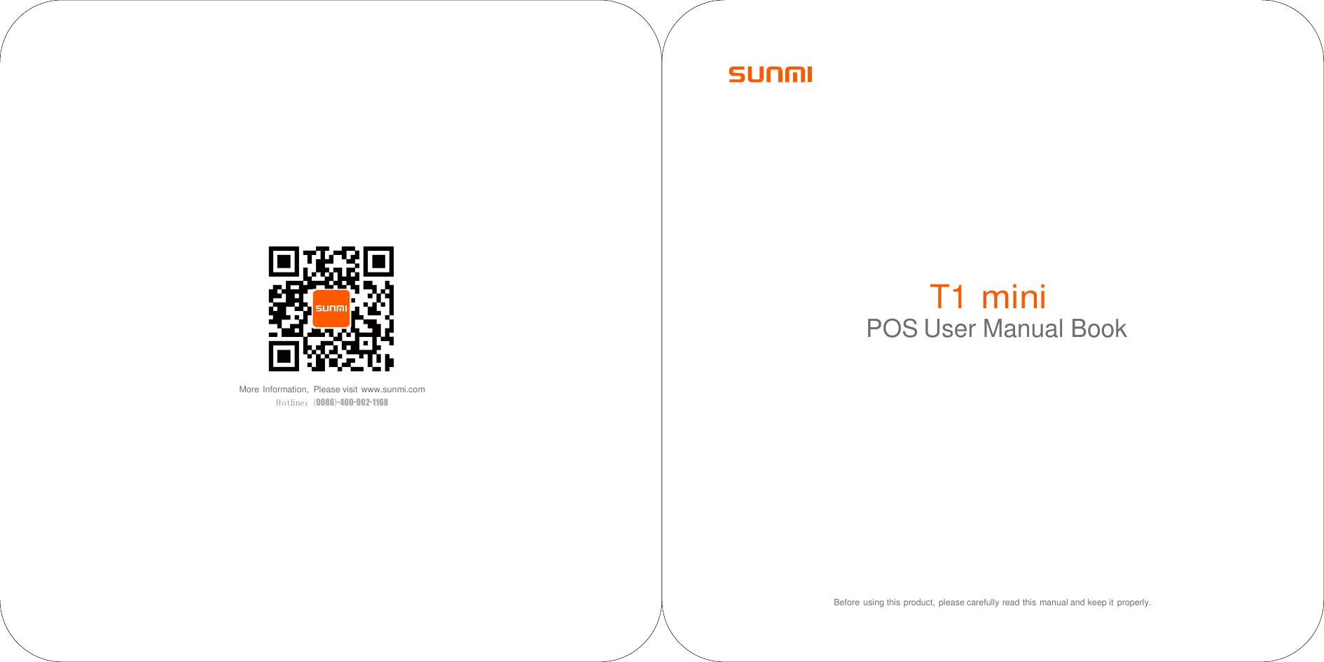 Sunmi Technology W1300 POS System User Manual W1300W1302 04 T1 mini