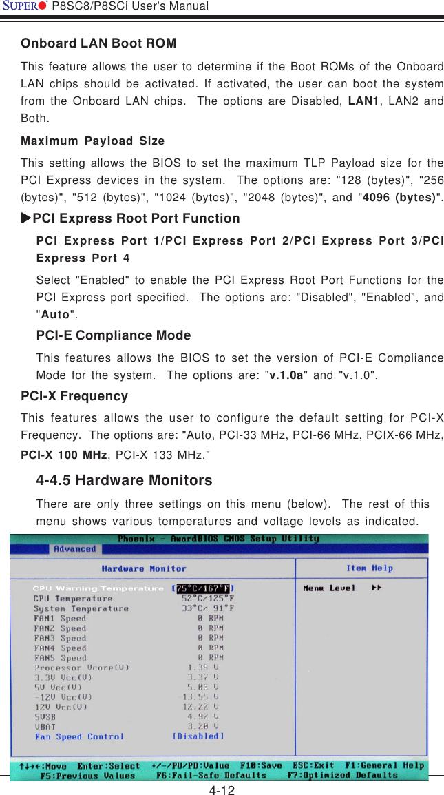 Super Micro Computer Motherboard P8Sc8 Users Manual P4SAA_1