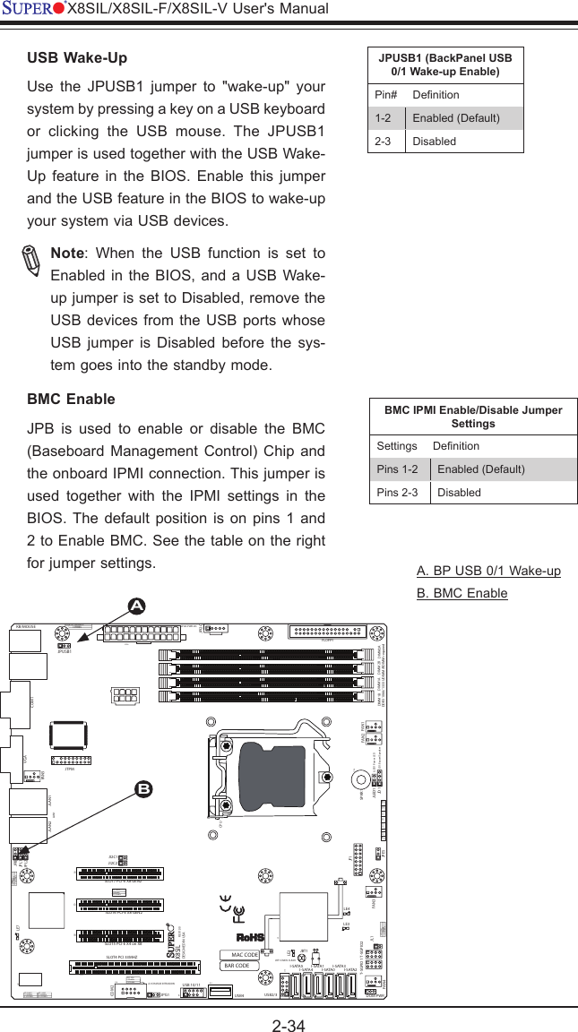 Super Micro Computer X8Sil F Users Manual