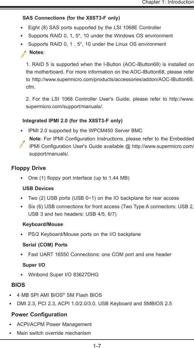 Super Micro Computer X8St3 F Users Manual