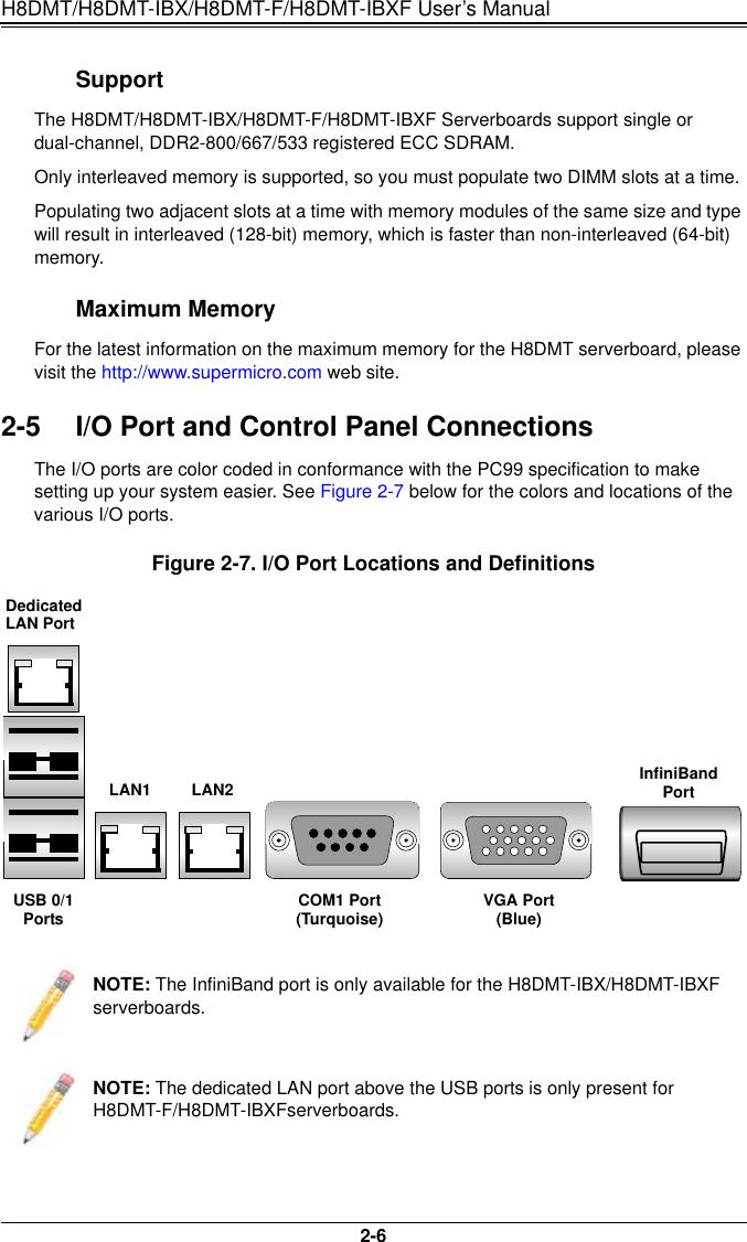 Super Micro Computer Supermicro H8Dmt Users Manual IBX_1 0a