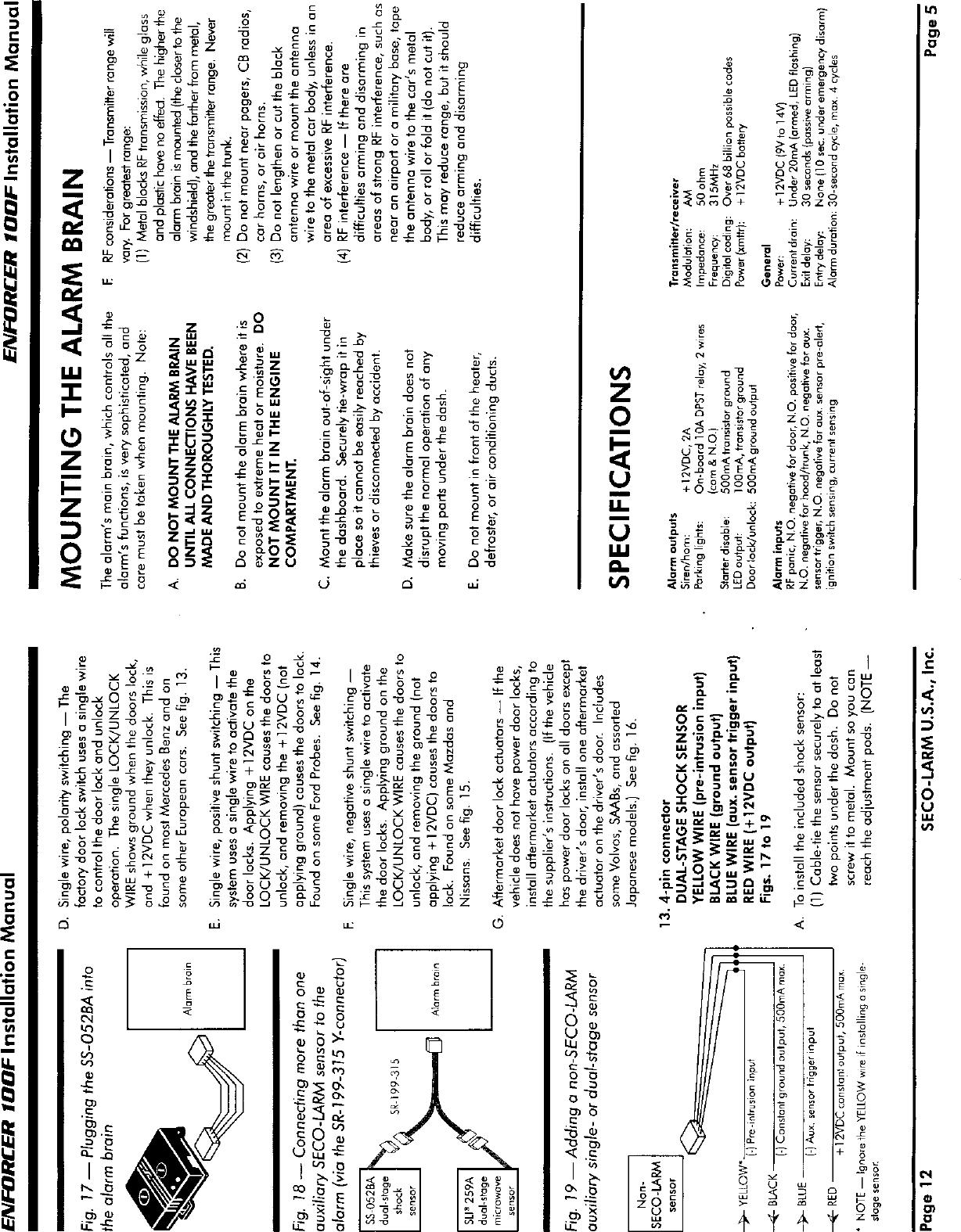 Shock Sensor Wiring 4 Pin - Circuit Connection Diagram •