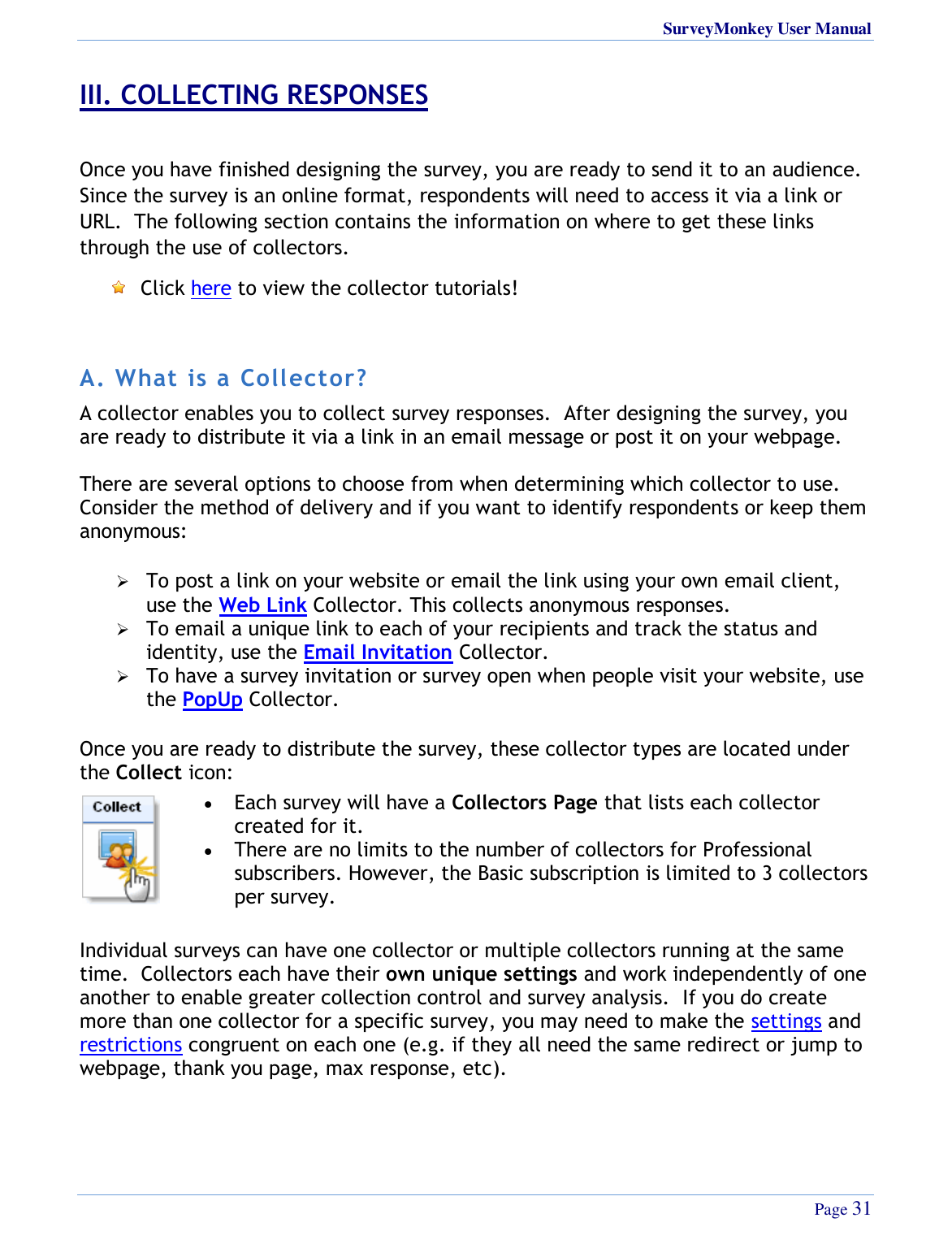 Surveymonkey 2009 Users Manual