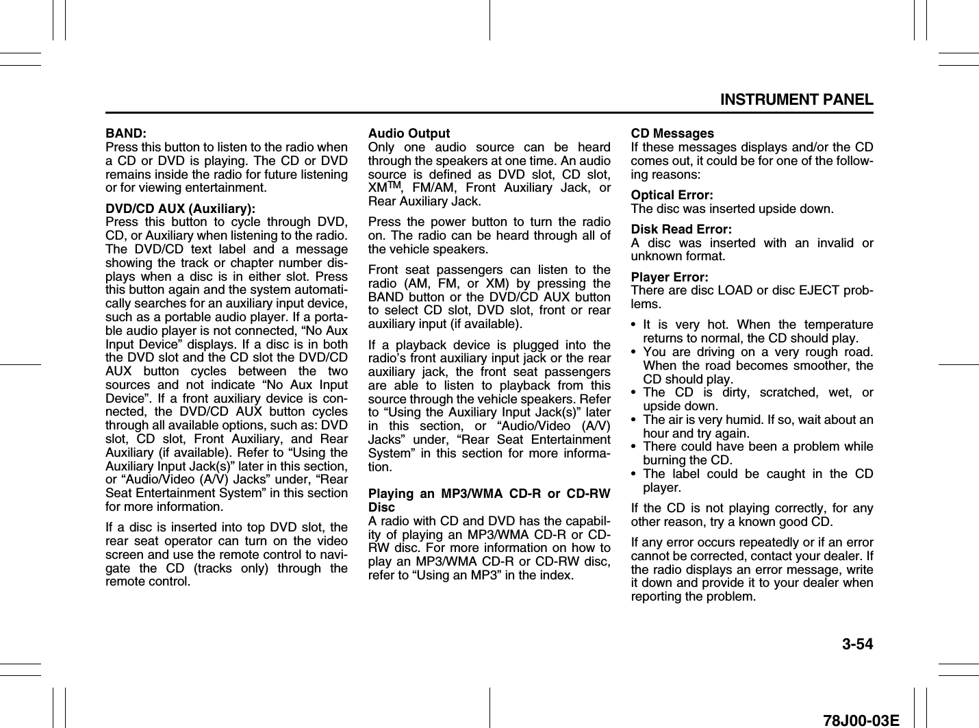 Suzuki 2007 Xl7 Owners Manual