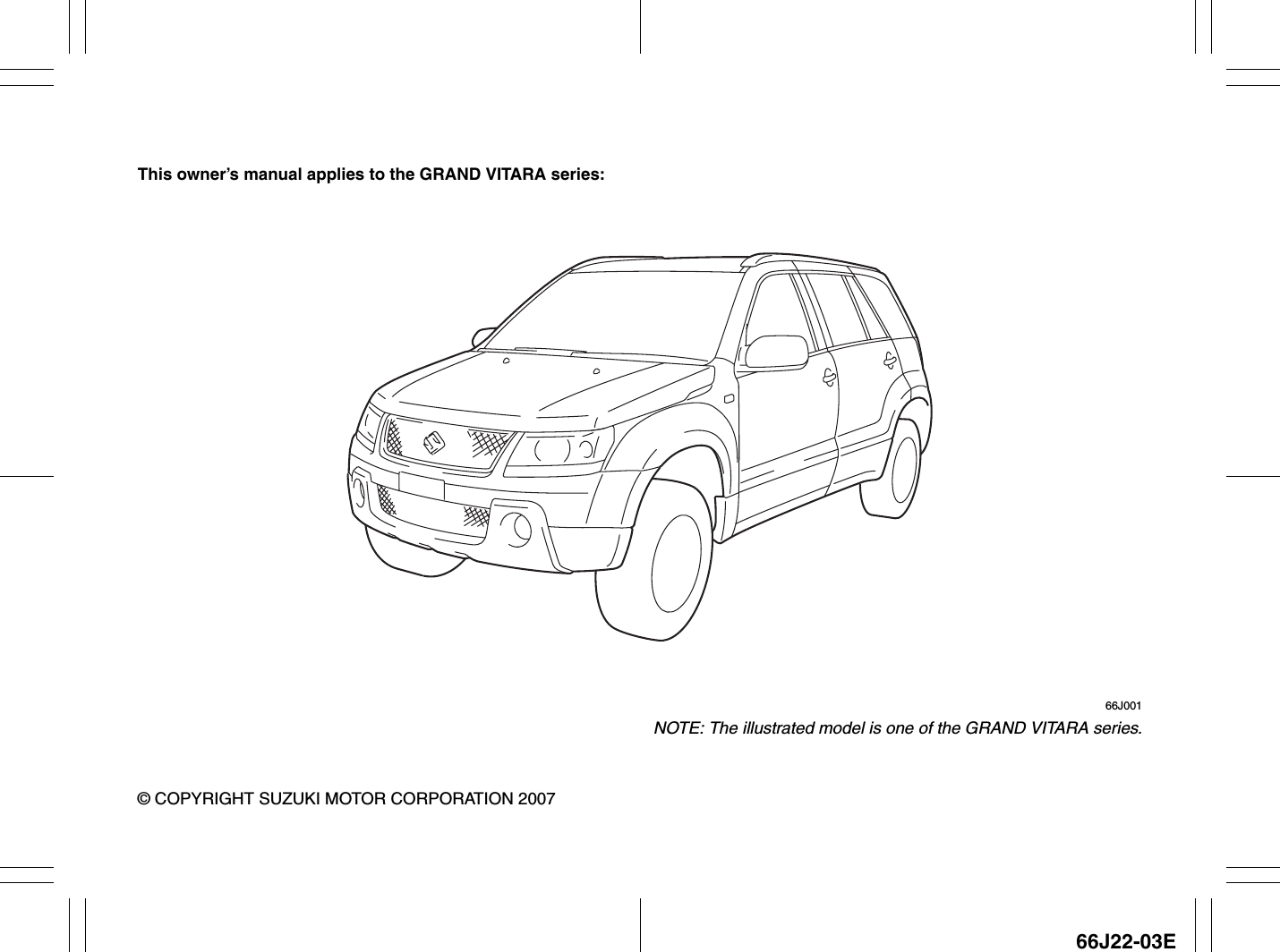 Bestseller  Suzuki Vitara User Manual Pdf