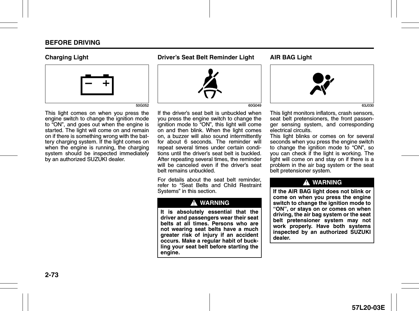 Suzuki 2010 Kizashi Owners Manual 13