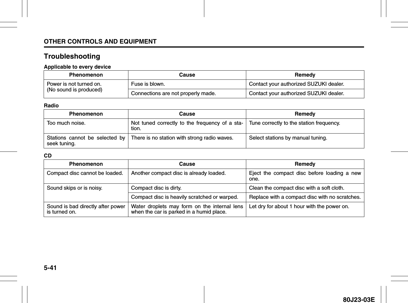 Suzuki 2010 Sx4 Owners Manual