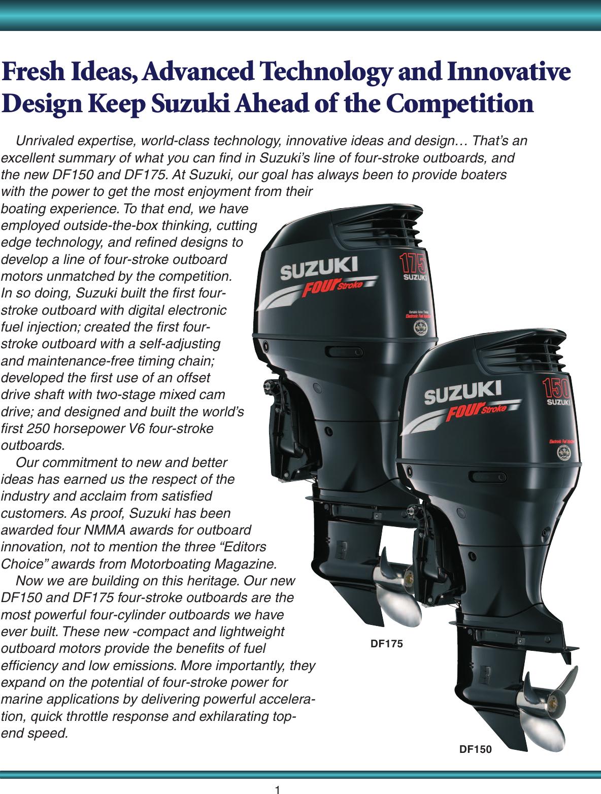 Suzuki Df150 Brochure 35234