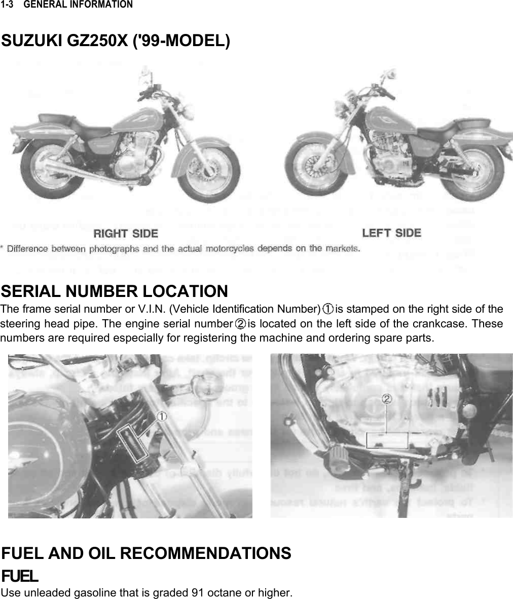 Suzuki Motorcycle Engine Identification