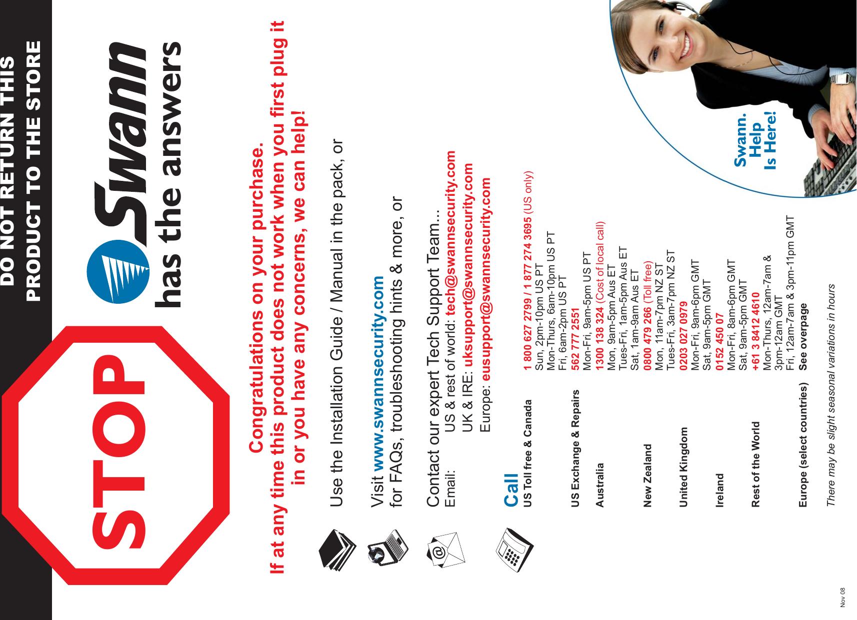 Swann Dvr4 950 Users Manual Sw344_dps_esg290509