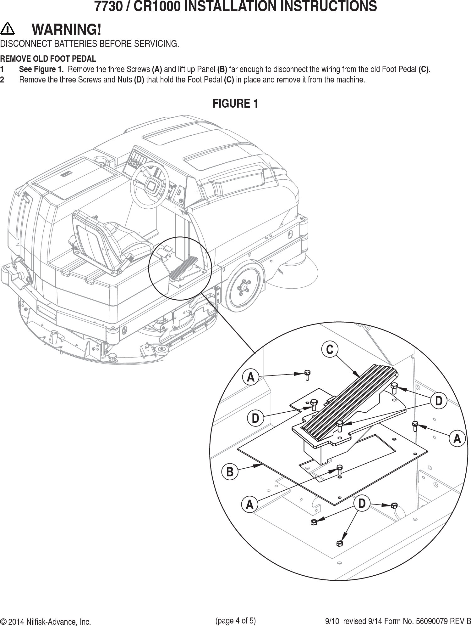 Sweepscrub American Lincoln Sr5730 Rider Floor Scrubber Foot Pedal Wiring Diagram Page 4 Of 5