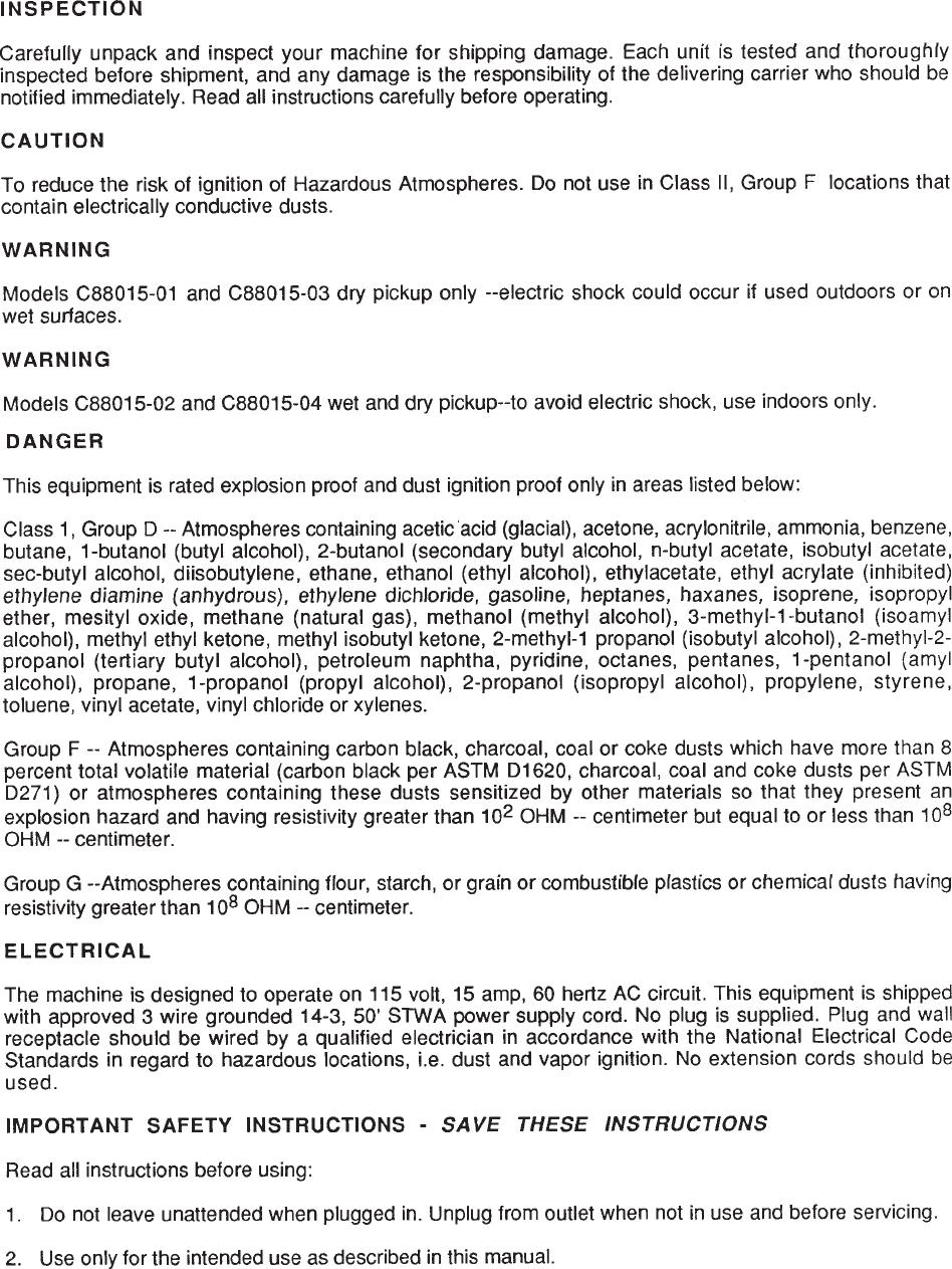987845, Expl Dust Ignition Proof.p65 Minuteman c88015 explosion ...