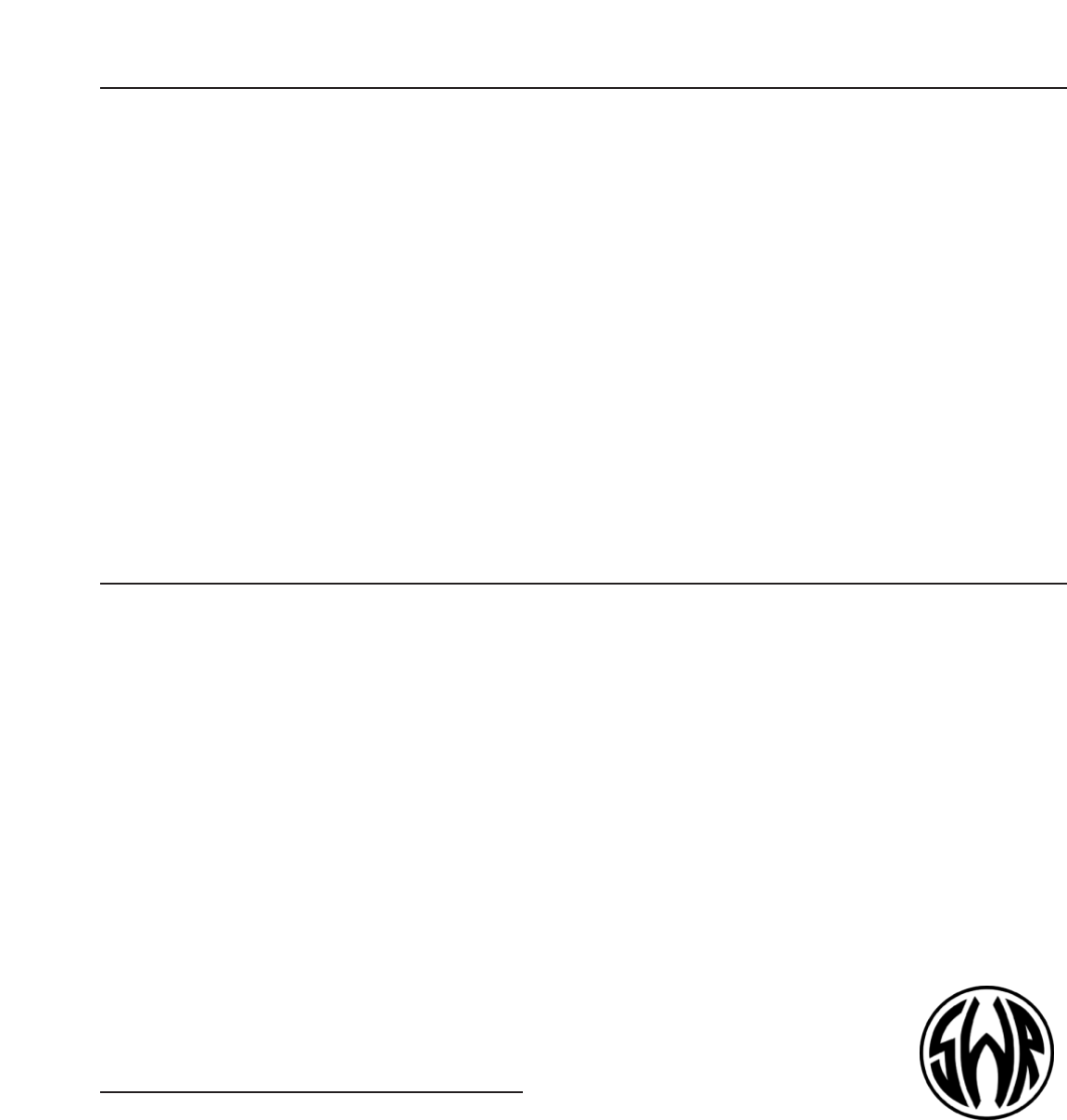 Swr Sound Super Redhead Users Manual