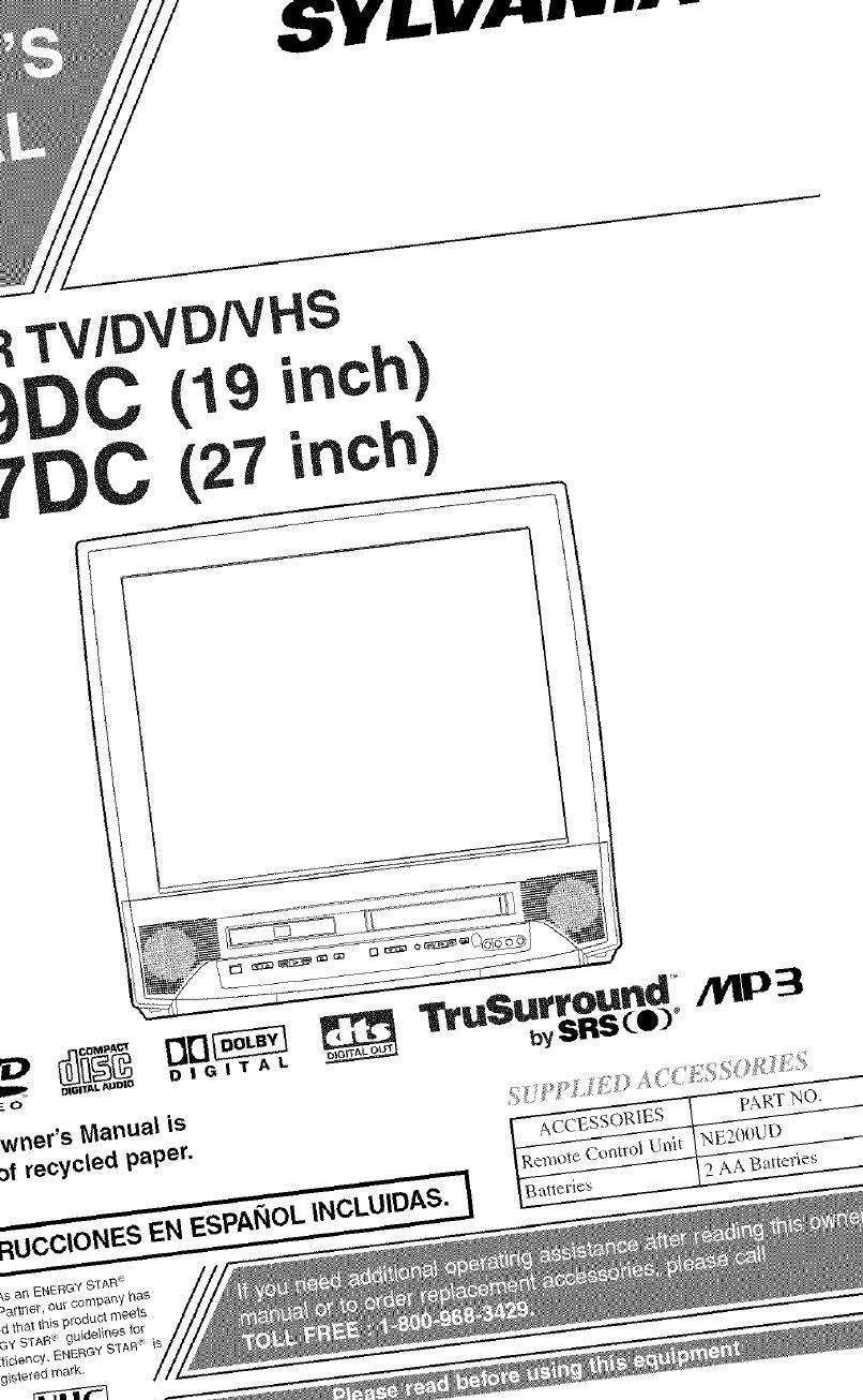 sylvania dvd combo manual