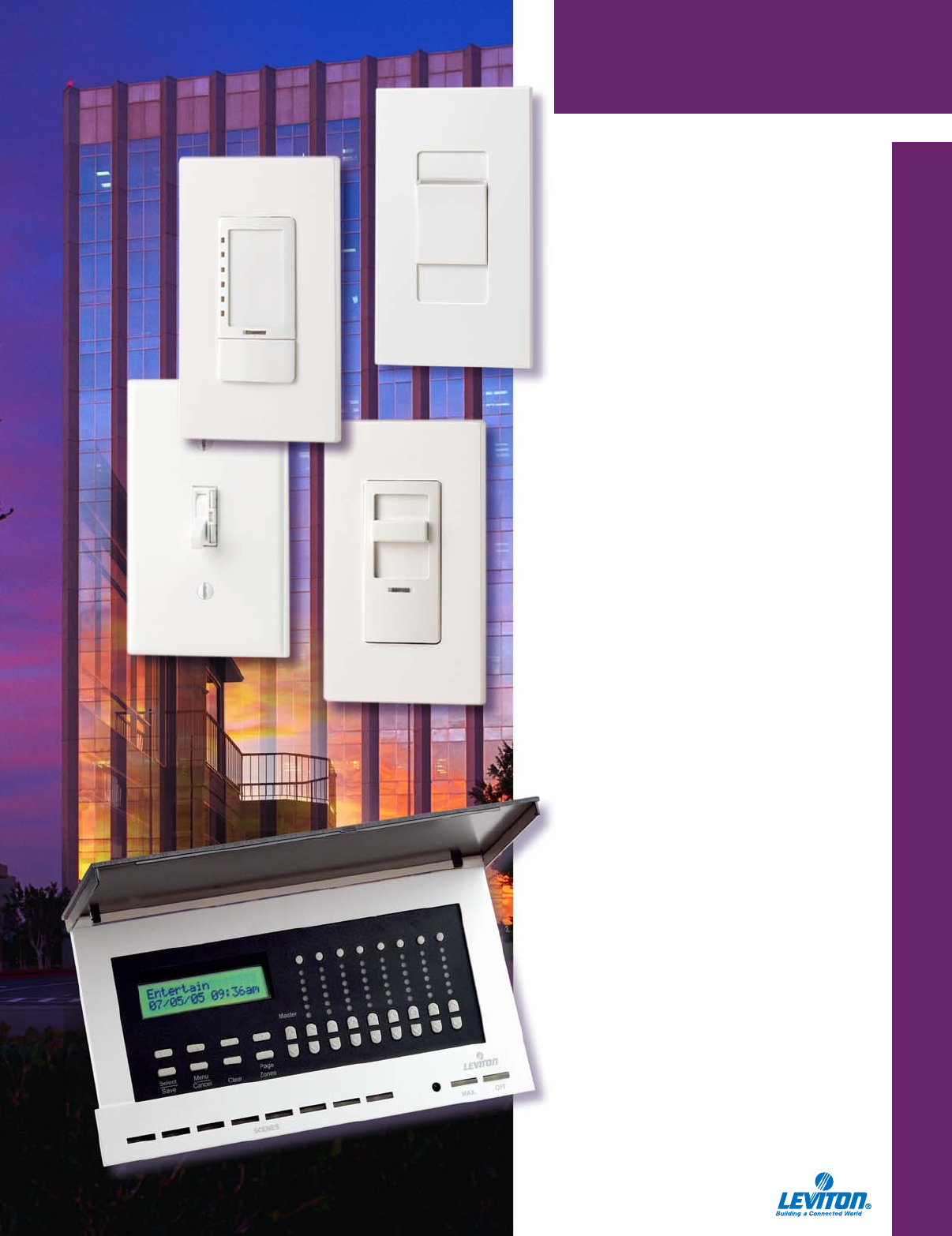 Leviton MNF07-1LE Digital Preset High End Commercial Fan Slide Speed Control