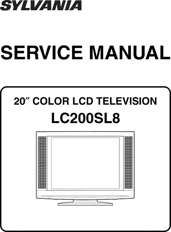 Sylvania LC200SL8 User Manual LCD TELEVISION Manuals And Guides L0705170