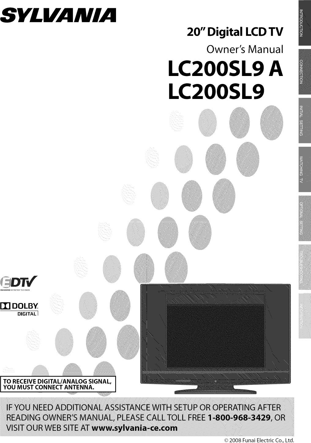 Sylvania Lc200Sl9 20 Lcd Tv Users Manual