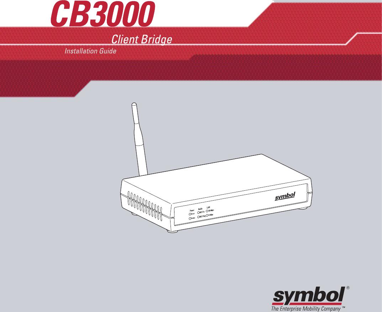 Symbol Technologies Cb3000 Client Bridge 3000 Series User Manual