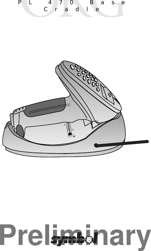 Symbol Technologies Pl470 Pl 470 Base Cradle User Manual Manual Id