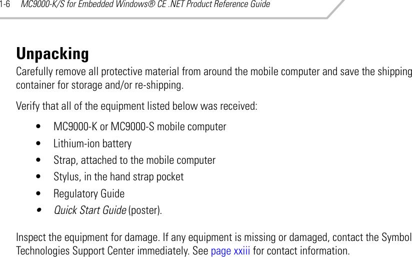 Embedded Symbol Technologies Mc9000 - Querciacb