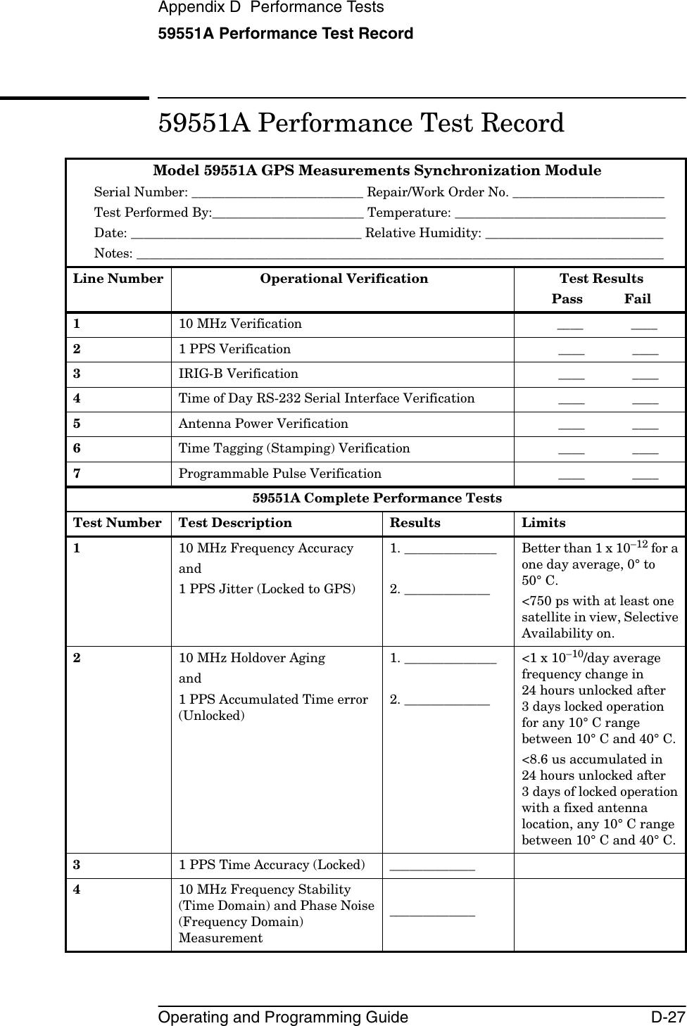 Symmetricom Gps Receiver 58503B Users Manual
