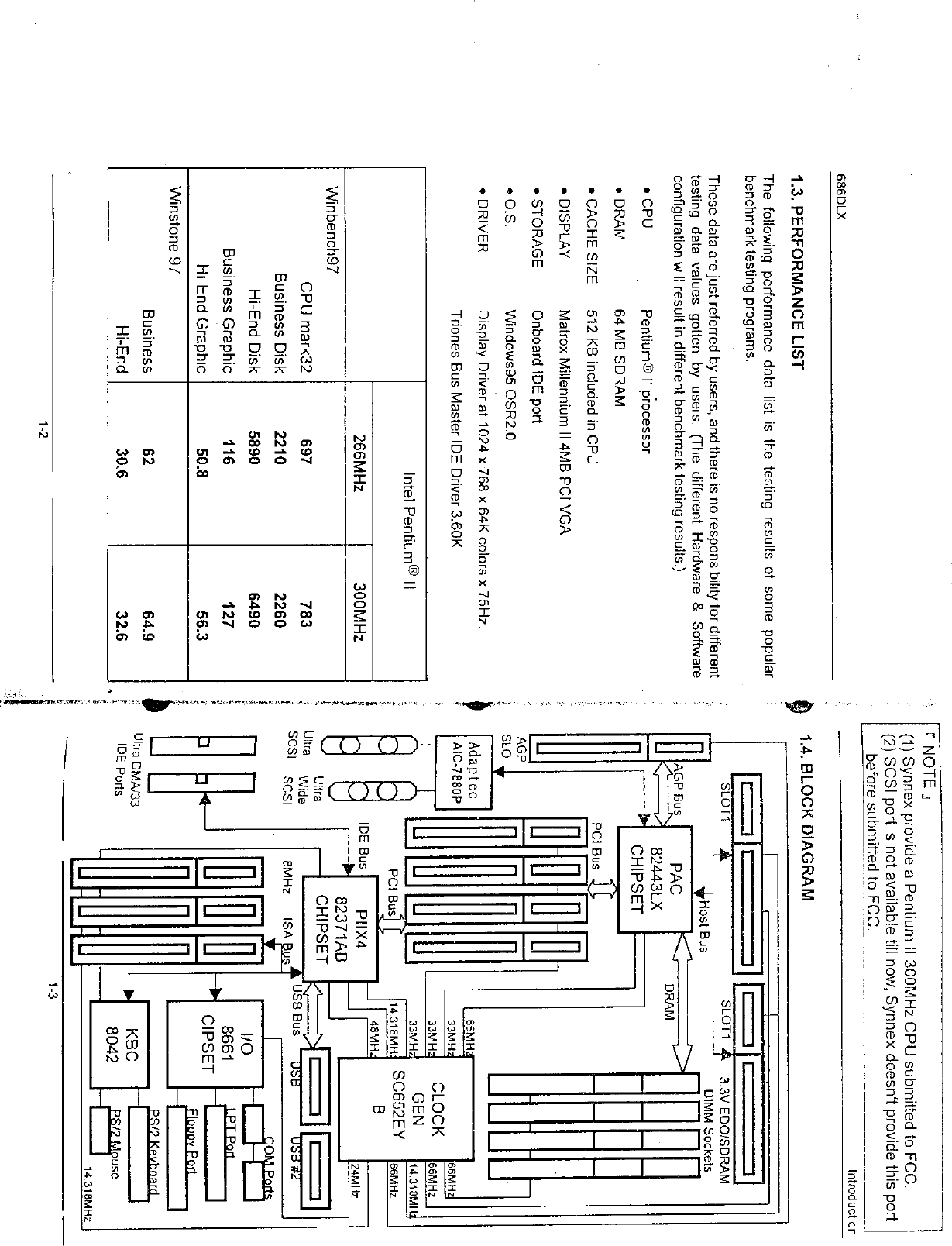 Synnex Technology Mitacserver 300 Mhz Pentium Ii Computer User 3 Block Diagram 8