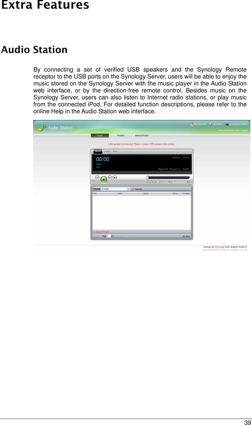 Synology Server Cs407 Users Manual