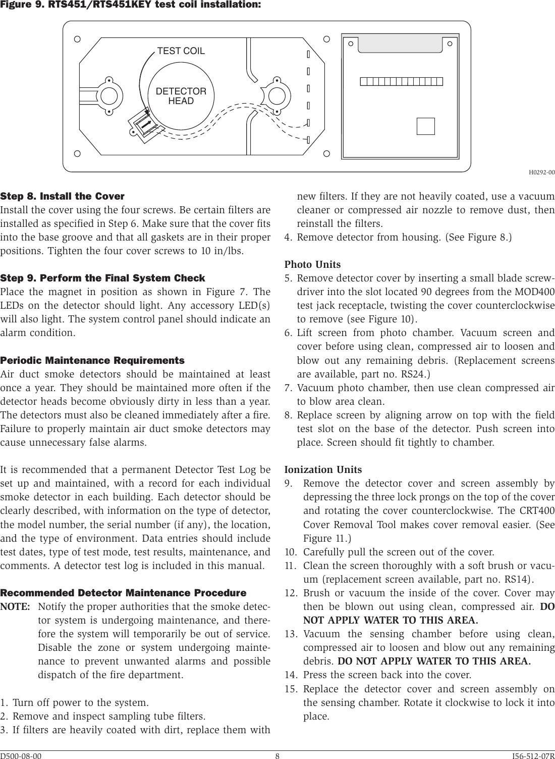 System Sensor Smoke Alarm Dh500 Users Manual