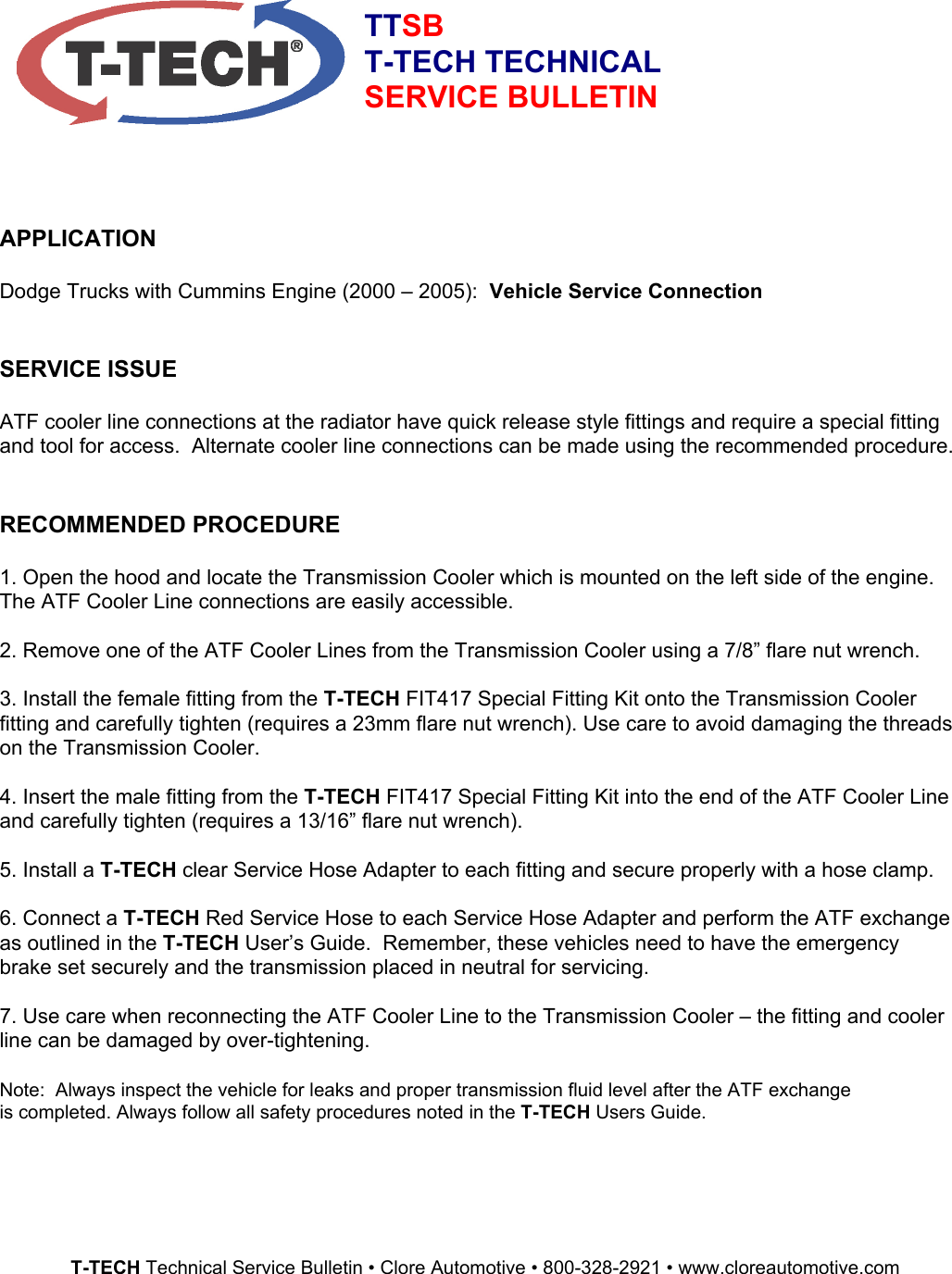 t tech fit417 users manual ttsb dodge cummins rh usermanual wiki Tech Manual Cover Page Natec Tech Manual
