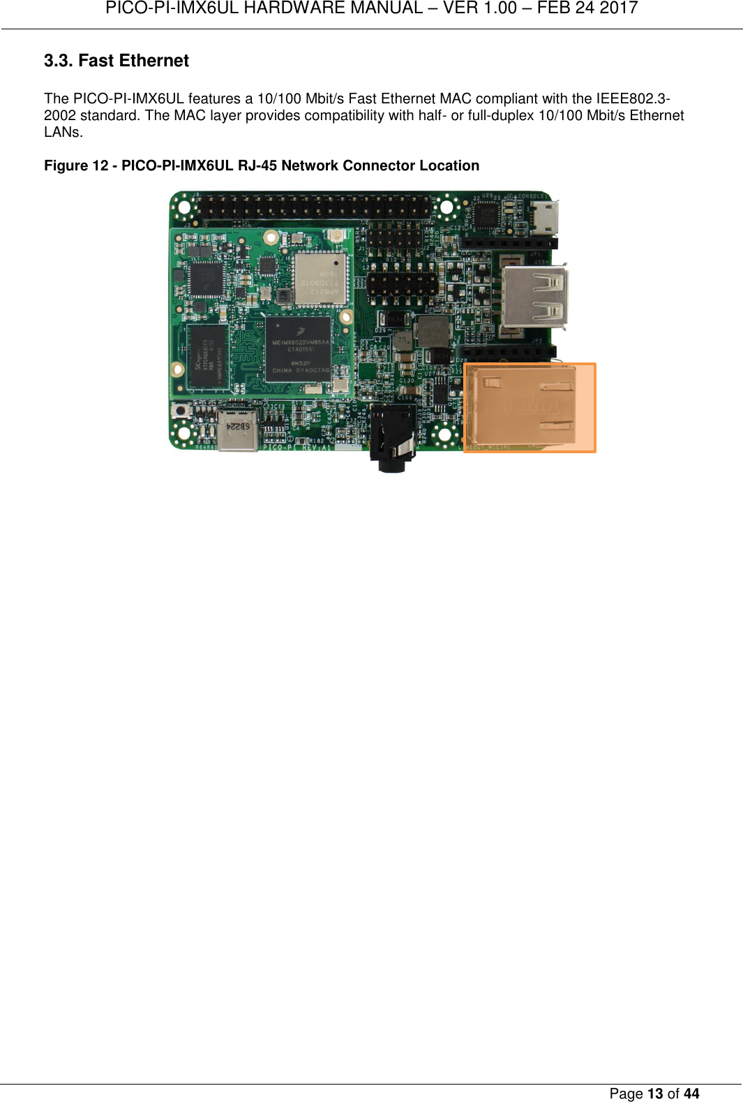TECHNEXION PICOIMX6 WiFi+Bluetooth 4 0(HS) System on Module