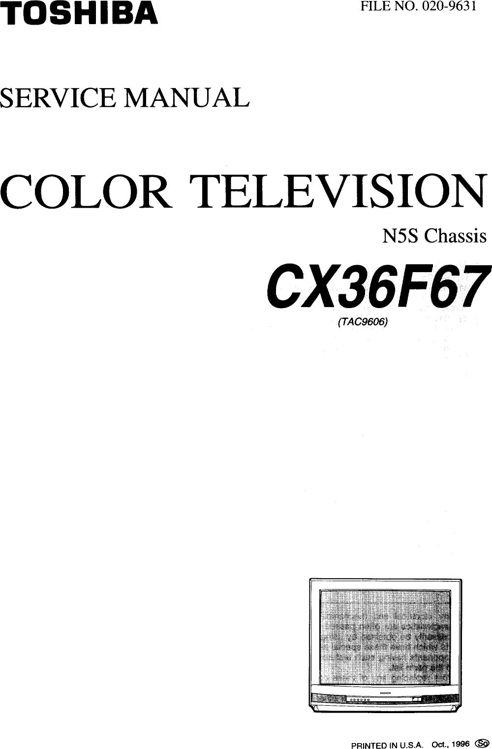 TOSHIBA Direct View Digital 27 To 40 TV Manual 97100266