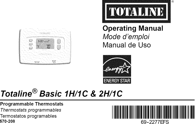 TOTALINE    Controls And HVAC Accessories Manual L0908024