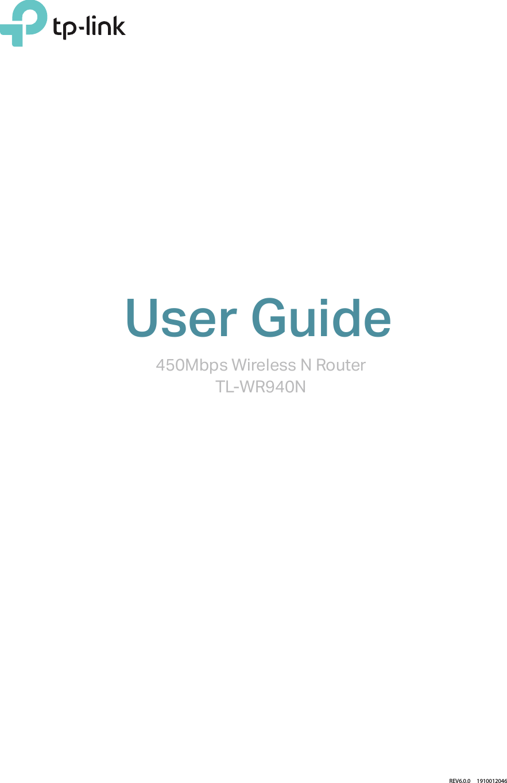 Tp Link Technologies Wr940nv6 450mbps Wireless N Router User Manual Tl Wr940n Ug