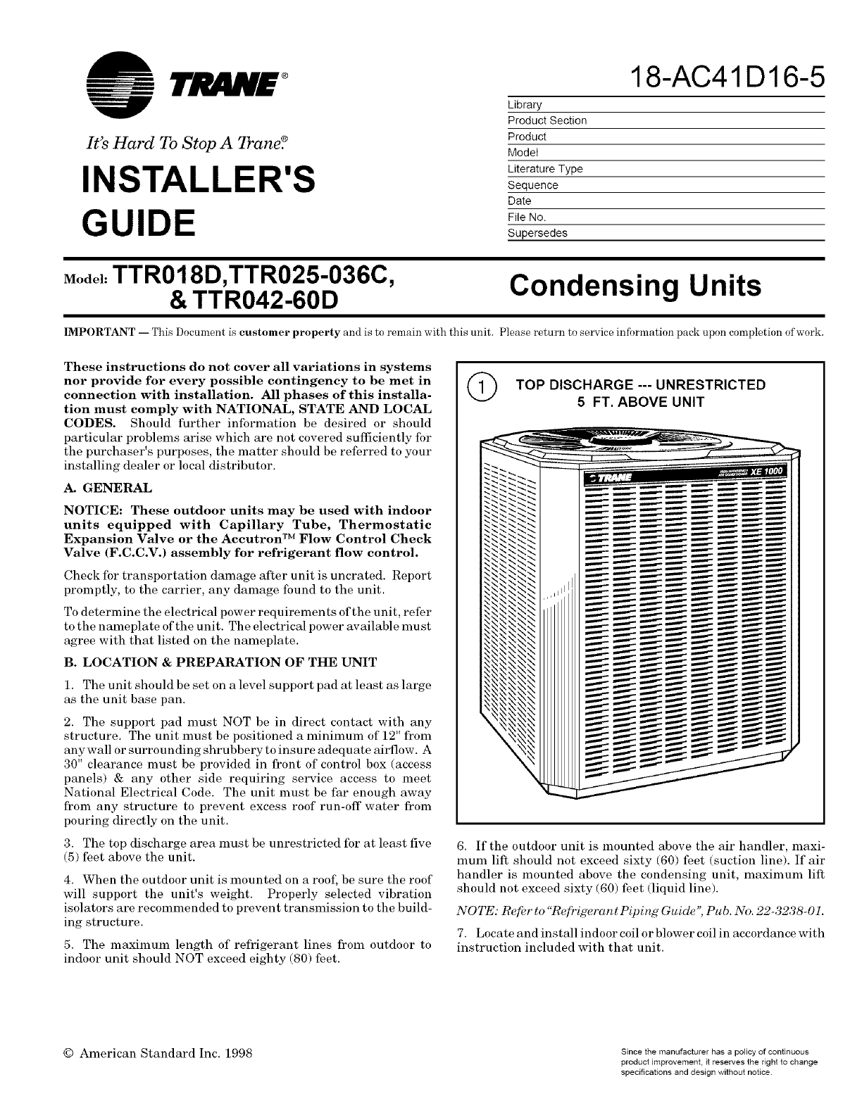 Trane Air Conditioner Wiring Diagram from usermanual.wiki