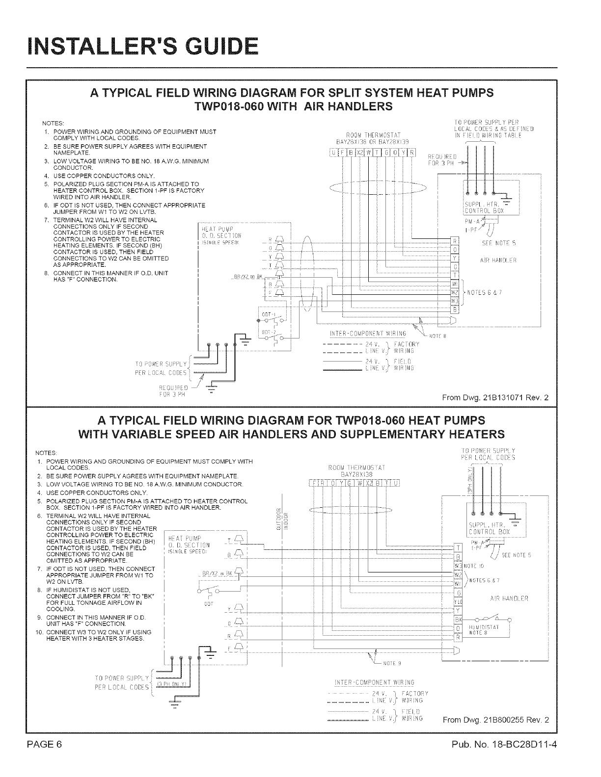 Trane Wiring Diagram Heat Pump from usermanual.wiki
