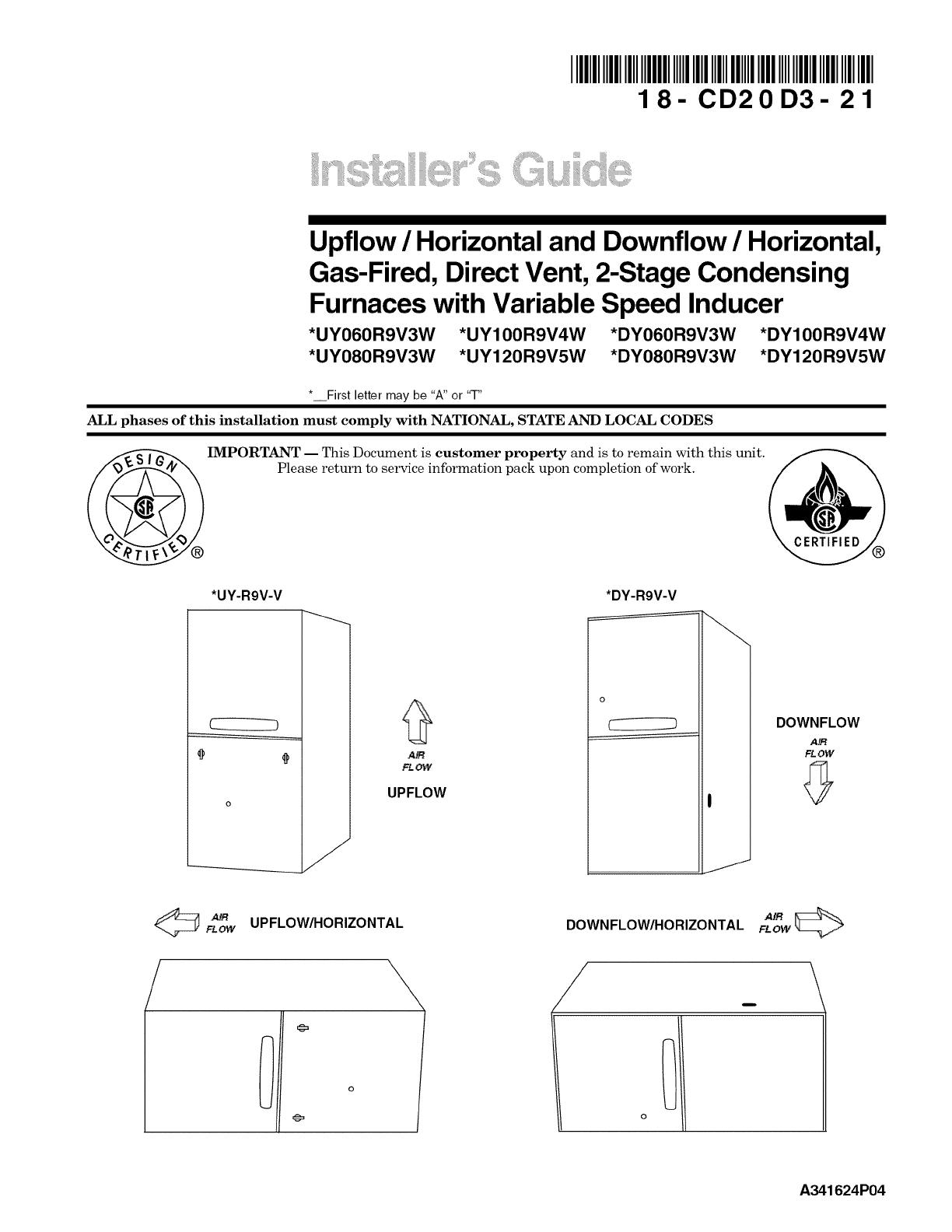 Trane Furnace Heater Gas Manual L0902557 Hard Start Kit Wiring Diagram