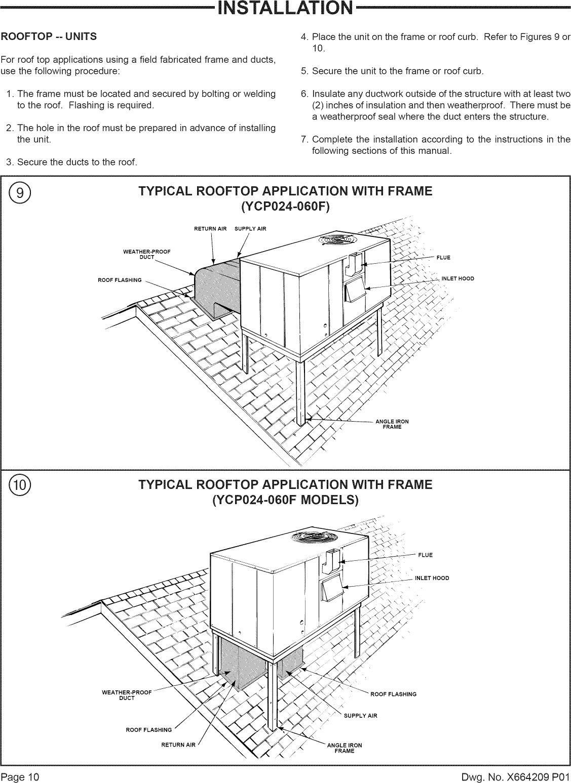 trane ycc030 manual