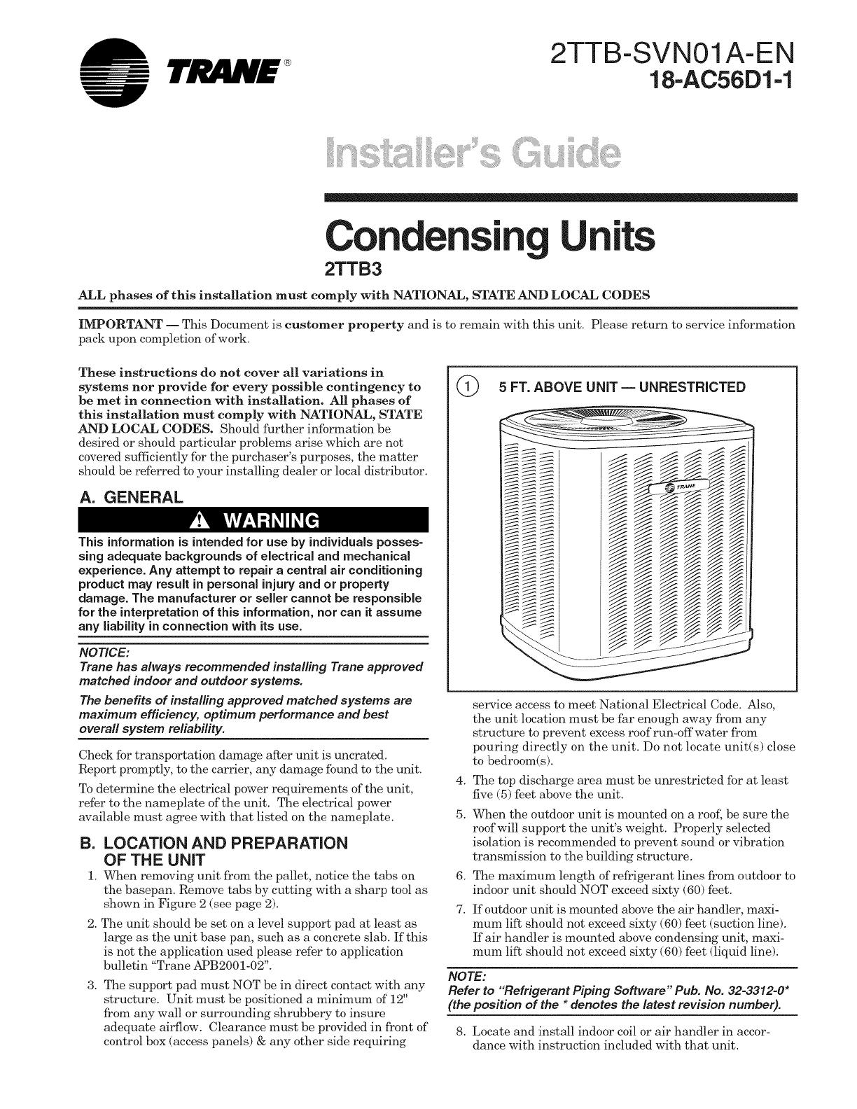 Trane Central Air Conditioner Manual   Sante Blog