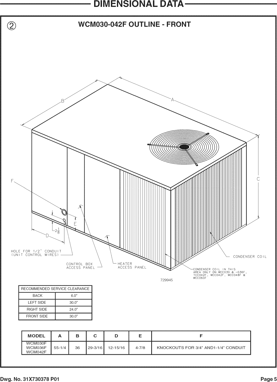 TRANE Package Units(both Units Combined) Manual L0905303