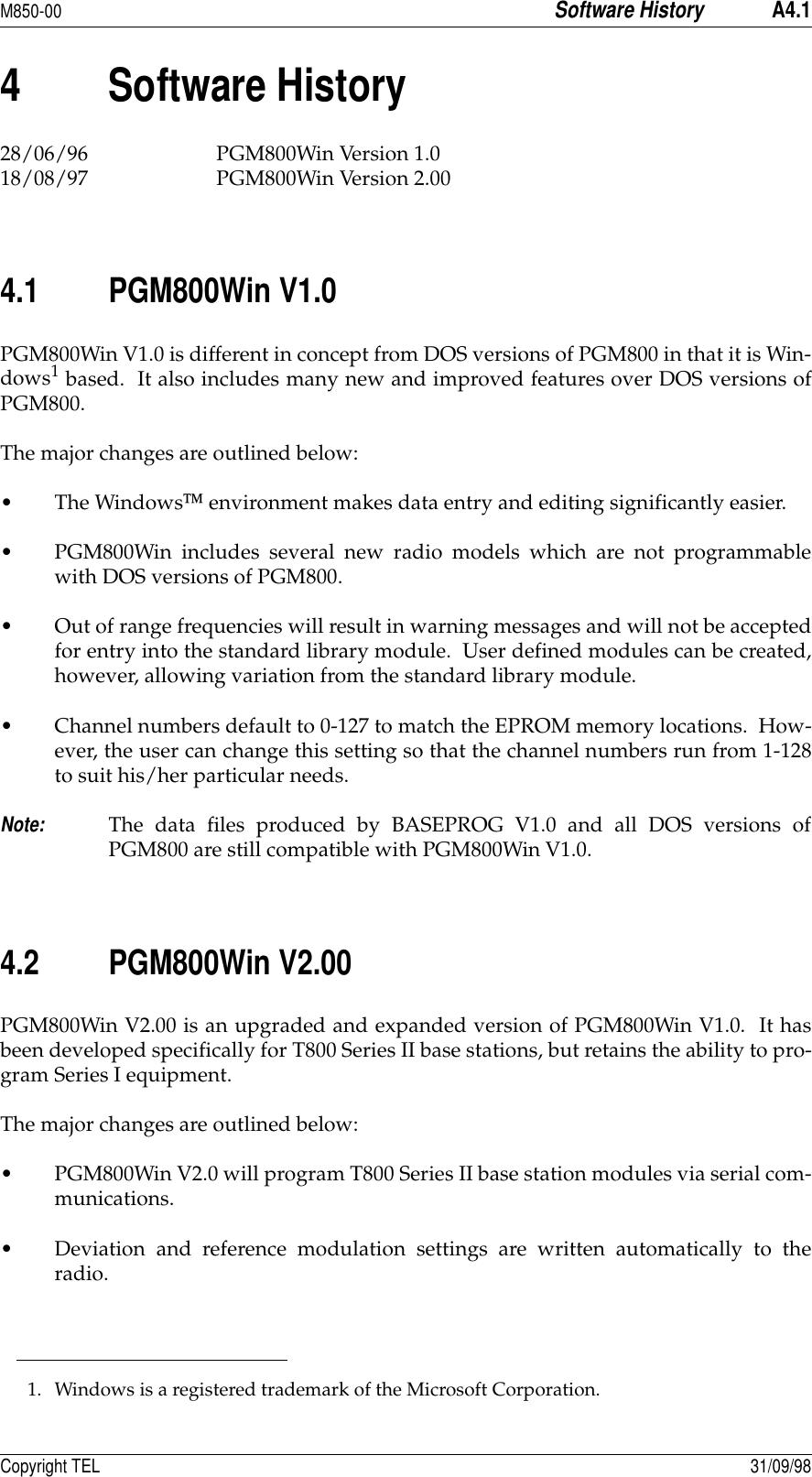 Tait TEL0025 Base Station Transmitter User Manual 8c500 a4 bk