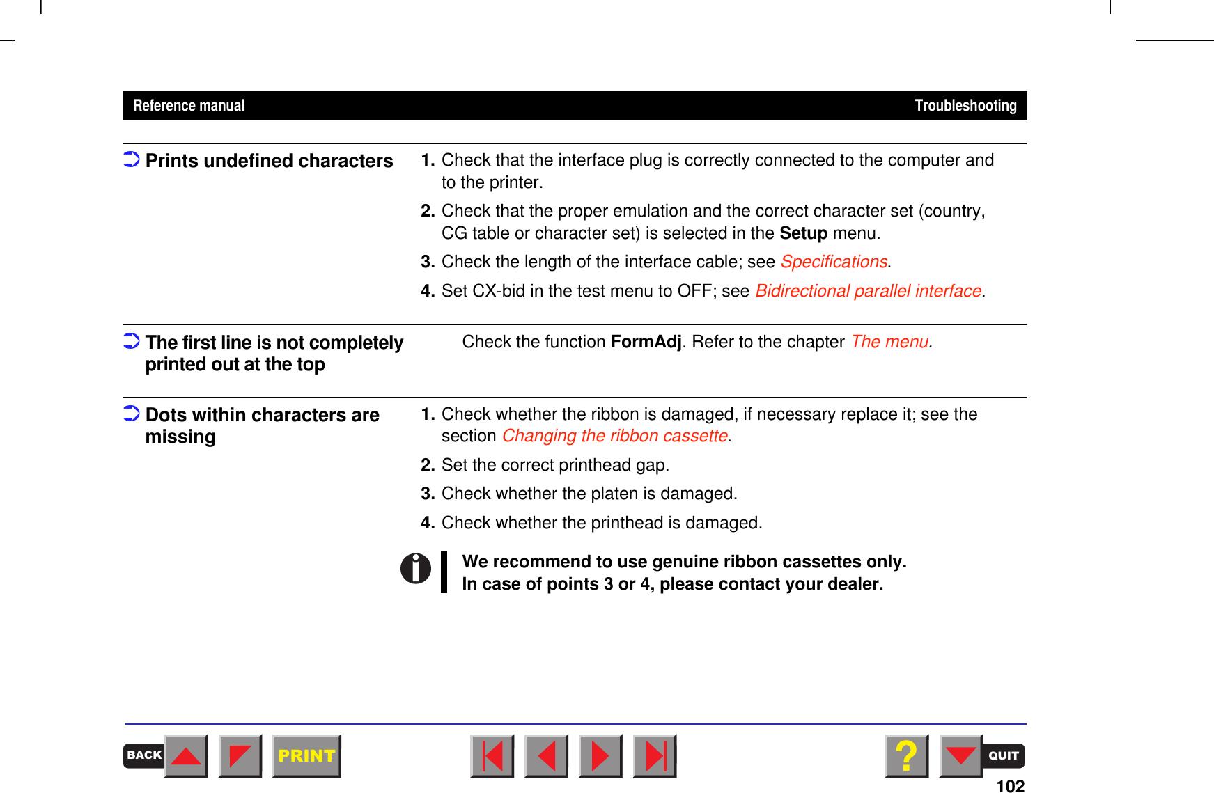 Tally Genicom Matrix Printer 2150 Users Manual