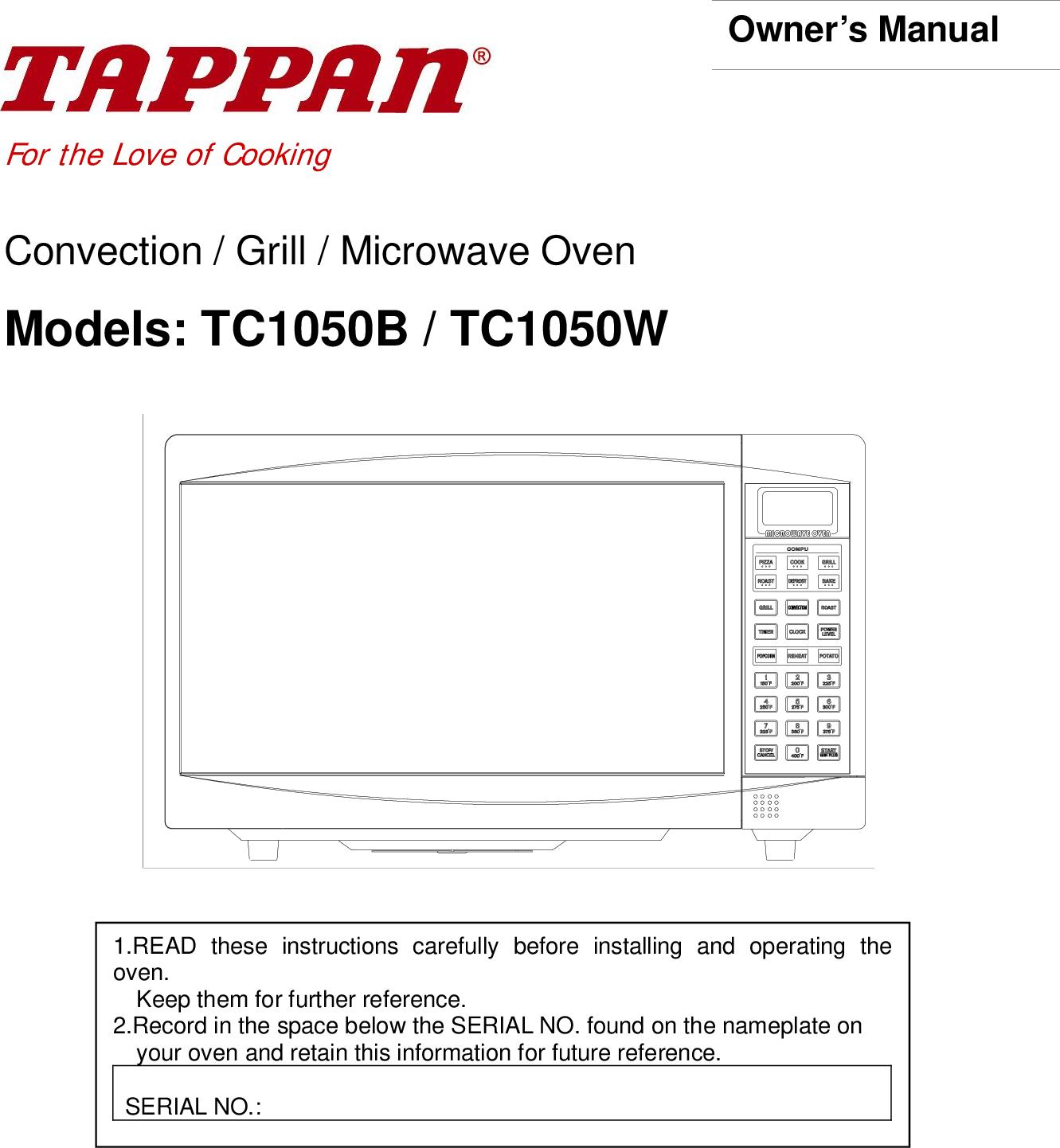 tappan tc1050b users manual rh usermanual wiki User Manual Kindle Fire User Guide