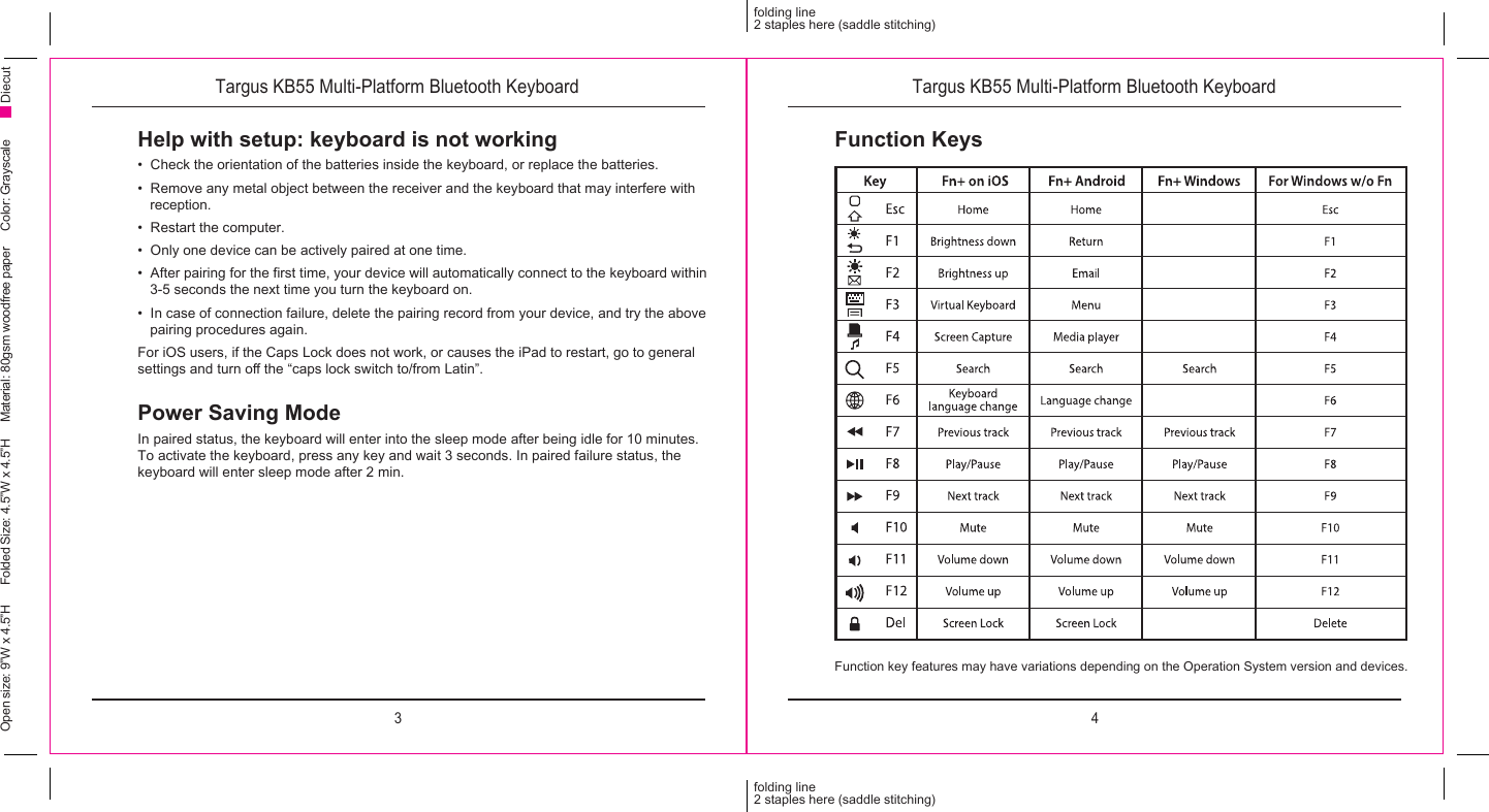 Targus 000078 bluetooth keyboard user manual.