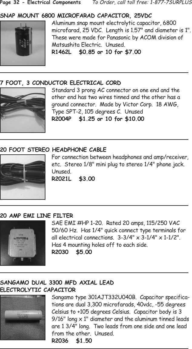 Tasco 1575 Users Manual Surplus Shed Catalog