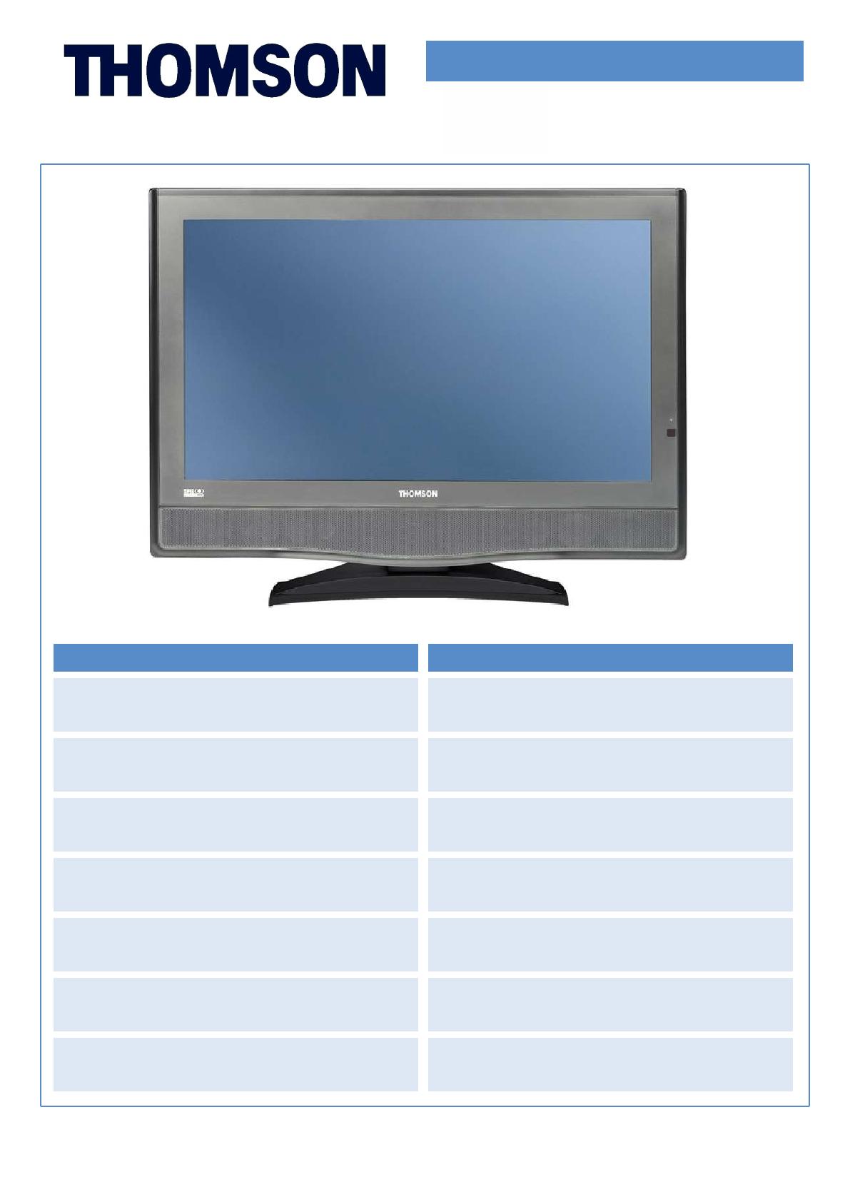 Technicolor Thomson 32Lb030B5 Users Manual