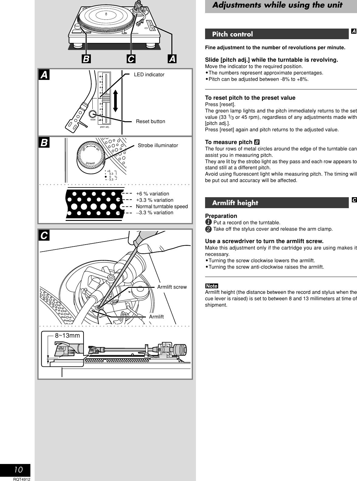 Technics Sl 1200M3D Owner S Manual